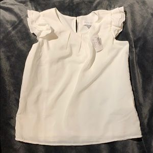 NWT The Children's Place White Blouse Size 10/12